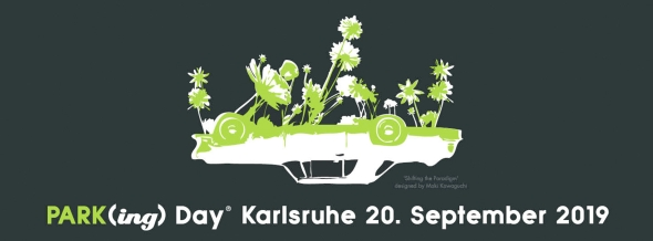Postkarte Parking Day